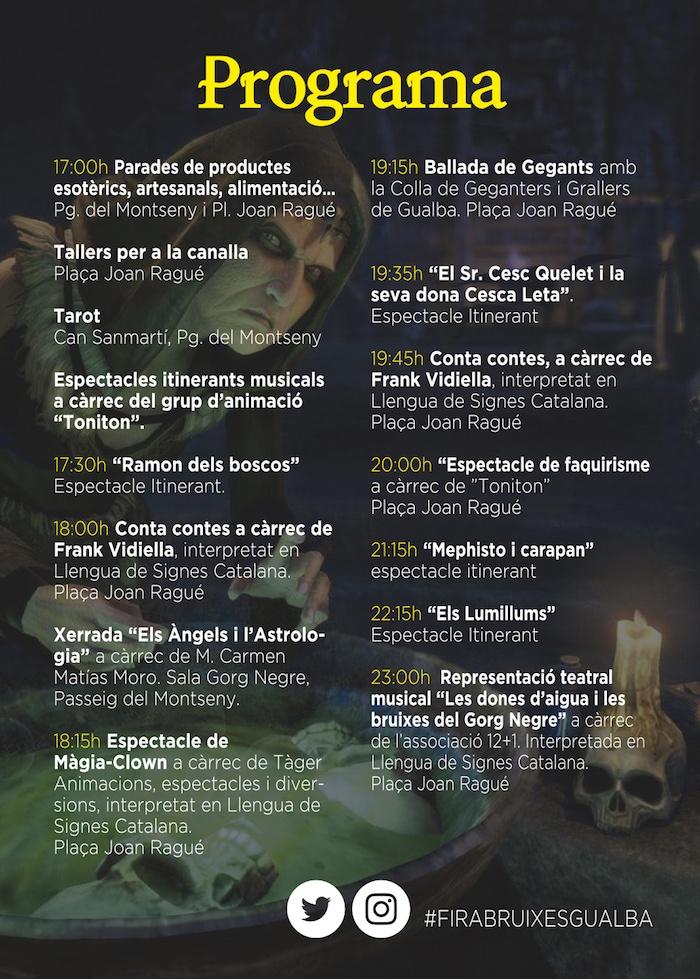 FIRA DE BRUIXES- FIRA DE BRUIXES DE GUALBA - PROGRAMA 2019
