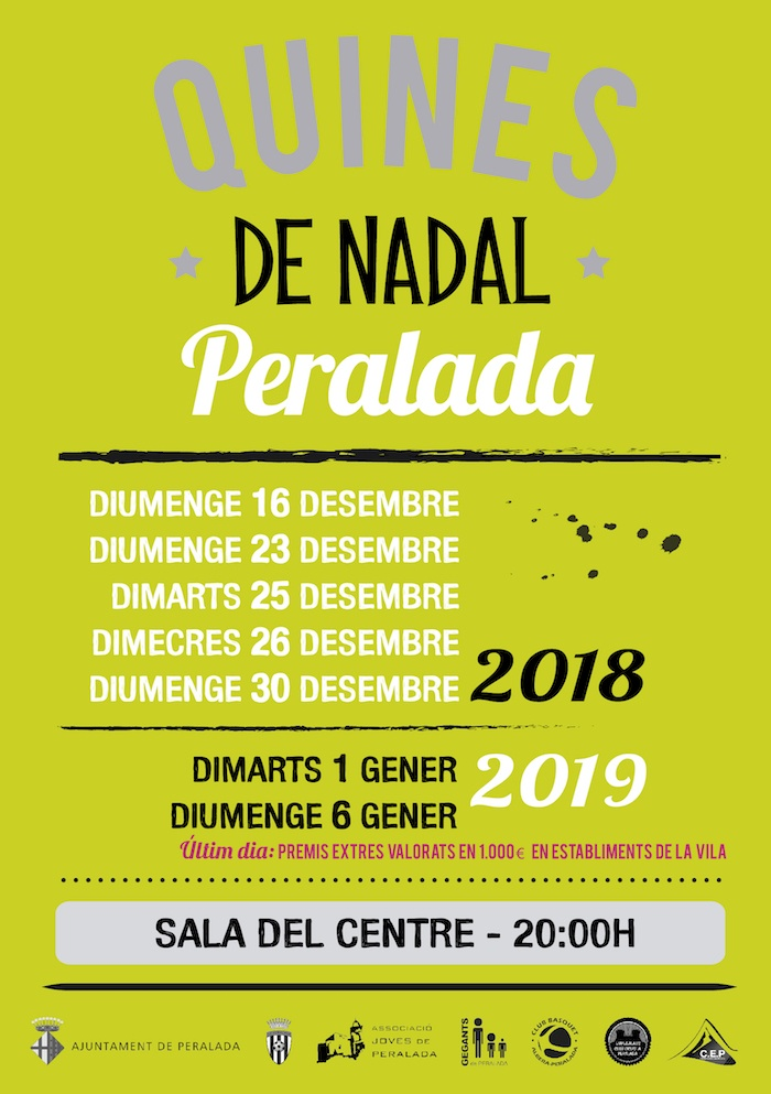 Quines de Nadal 2018 - Peralada 2018