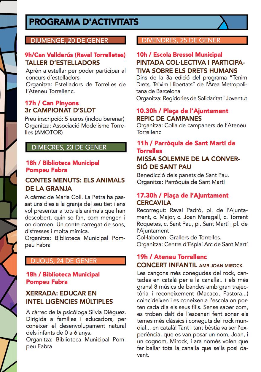 Festa Major de Sant Pau de Torrelles de Llobregat 2019 - Programa d'activitats 1