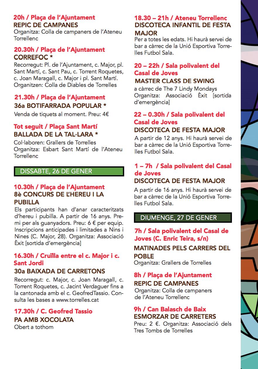 Festa Major de Sant Pau de Torrelles de Llobregat 2019 - Programa d'activitats 2