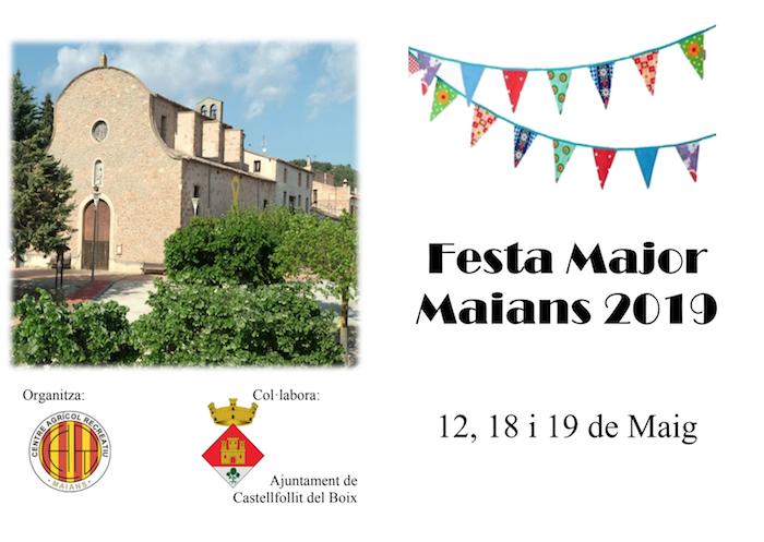 FESTA MAJOR - MAIANS - QUE FER AQUEST CAP DE SETMANA