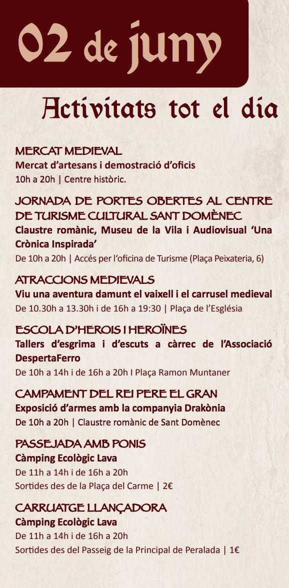 FIRES MEDIEVALS - NA MERCADERA - PROGRAMA