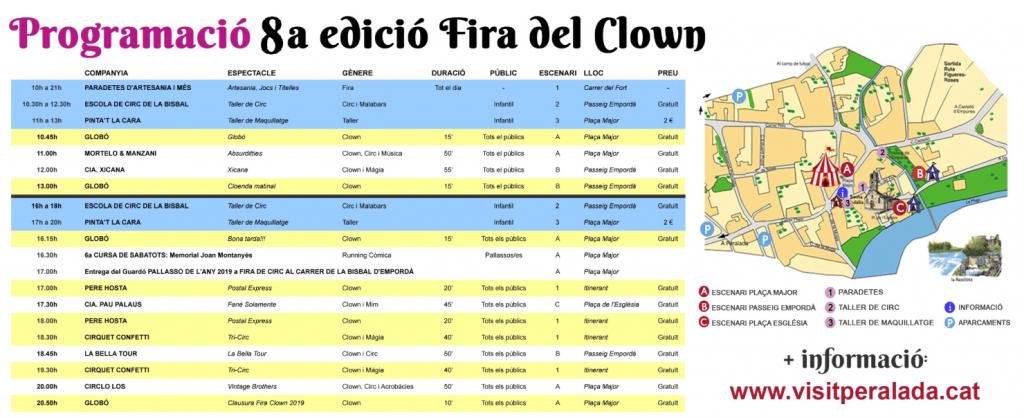 Fira del Clown - Programa d'activitats 2019 - Fira del Clown de Vilanova de la Muga - Fires i Festes - Que fer aquest cap de setmana