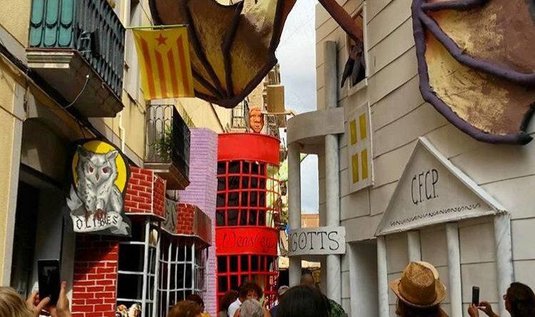 Carrers premiats festes majors de Gràcia - primer premi carrer progrés- Harry progres