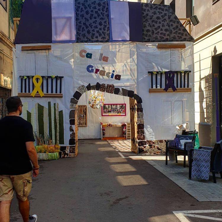 Plaçeta Sant Miquel. festa major de Gràcia 2019 - PIc by theotherbcnbyrusi