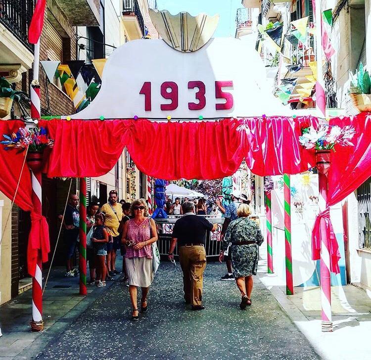 Festa Major de Gràcia - Carrer de Ciudad Real - 1935