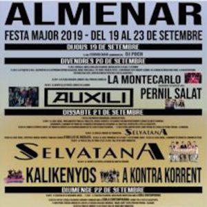 FESTES DE CATALUNYA - FESTA MAJOR ALMENAR - AGENDA LLEIDA