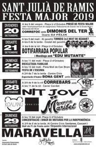 FESTES MAJORS - FESTA MAJOR SANT JULIÀ DE RAMIS - AGENDA GIRONA