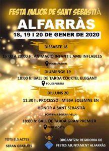 FESTA MAJOR - FESTA MAJOR DE SANT SEBASTIÀ DE ALFARRÀS - FESTES CATALUNYA