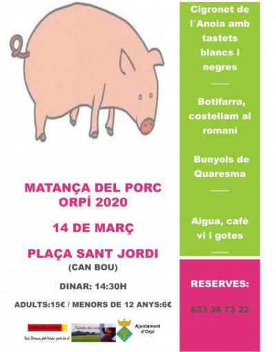 que fer avui - festa de la matança del porc a Orpí