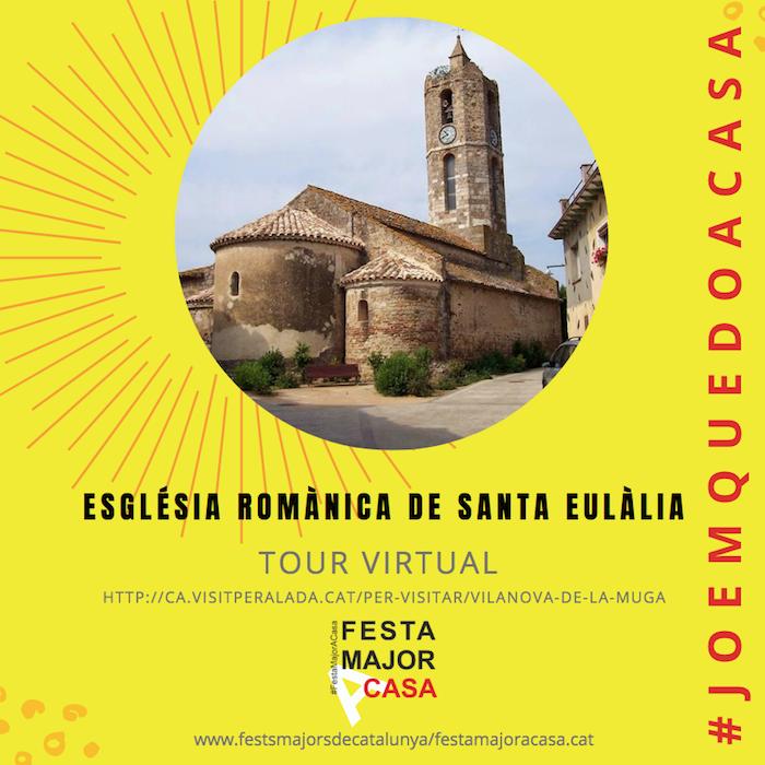 visita virtual església romànica a vilanova de la muga