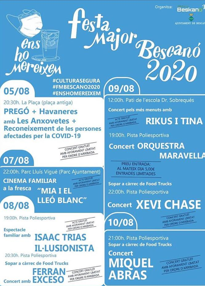Festa major - Bescanó - fires i festes