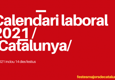 CALENDARI LABORAL 2021 - CATALUNYA