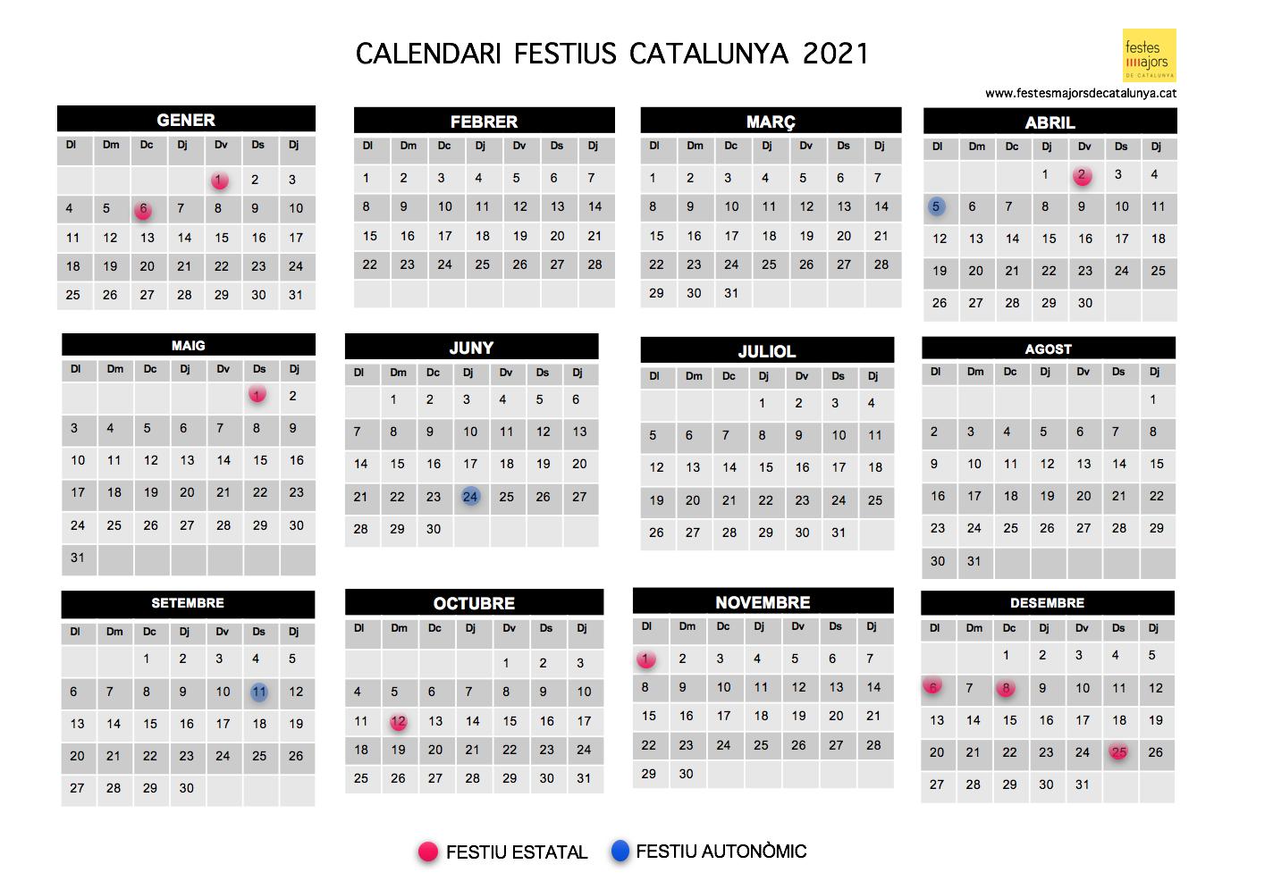 Calendari laboral 2021 - calendari laboral 2021 catalunya