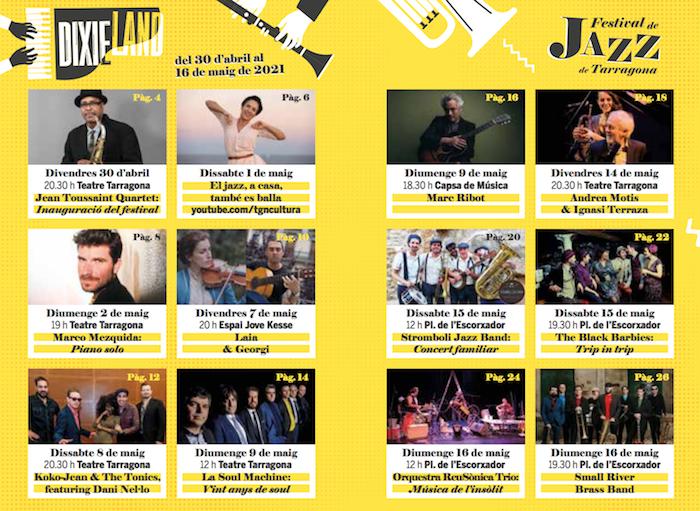 DIxie Land - Festival de Jazz de Tarragona - que fer avui