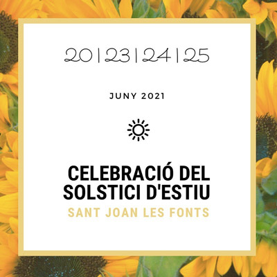 Festa Major - Sant Joan de les Fonts - que fer aquest cap de setmana