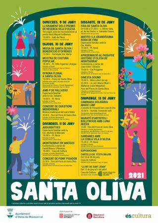 Festes de Santa Oliva a Olesa de Montserrat - que fer aquest cap de setmana
