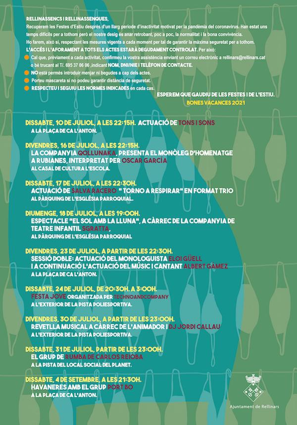 Festa Major de Rellinars - 10 de juliol al 4 de setmebre