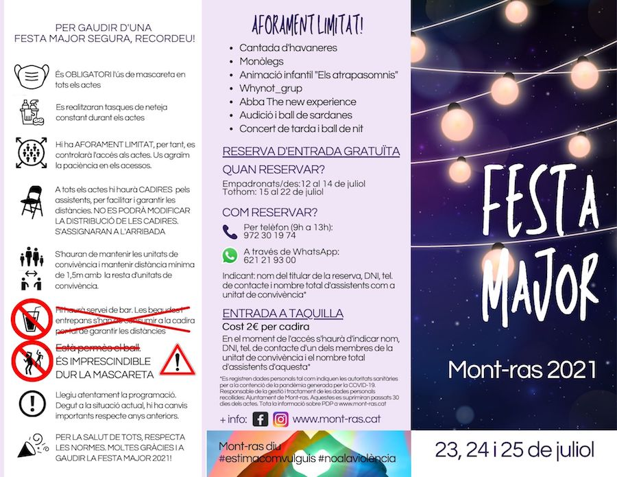 Festa Major de Mont Ras - agenda girona -festes majors