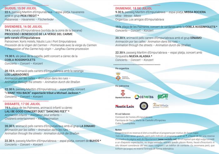 Festes del CArme a Empuriabrava 2021 - festa major empuriabrava - agenda girona
