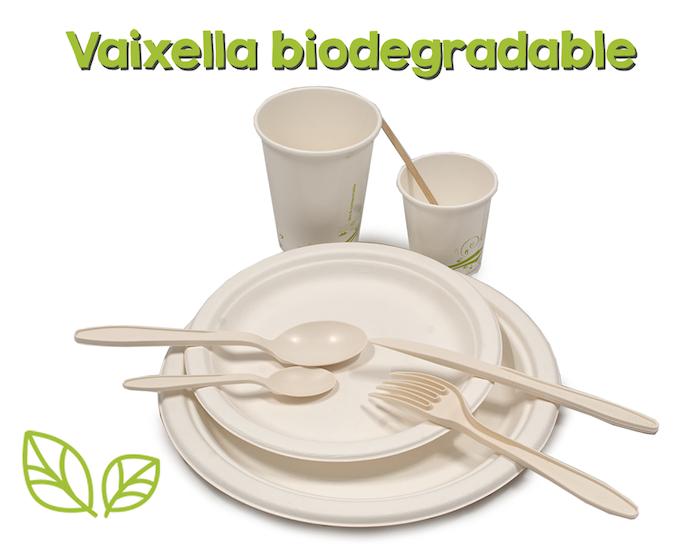 Vaixella biodegradable per festes