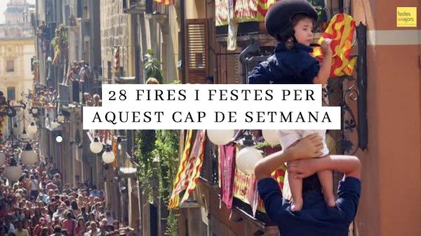 QUÈ FER AQUEST CAP DE SETMANA – 25 i 26 de setembre